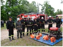 strażacy podczas pokazów