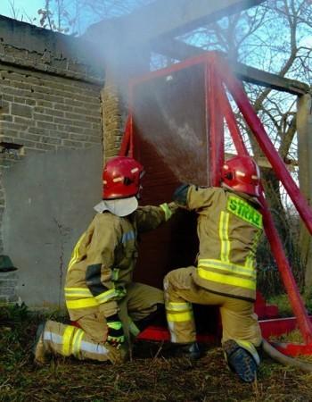 strażacy podczas akcji